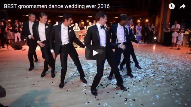 groomsmen wedding dance